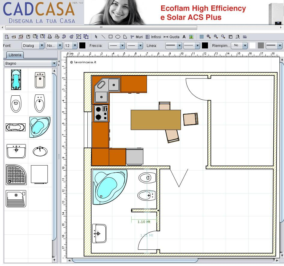 Programma per progettare bagno gratis for Programma per disegnare case gratis italiano